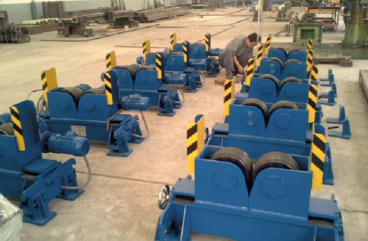 Wide Wheels Aligning Steel Tank Welding Rotator Turning Rolls