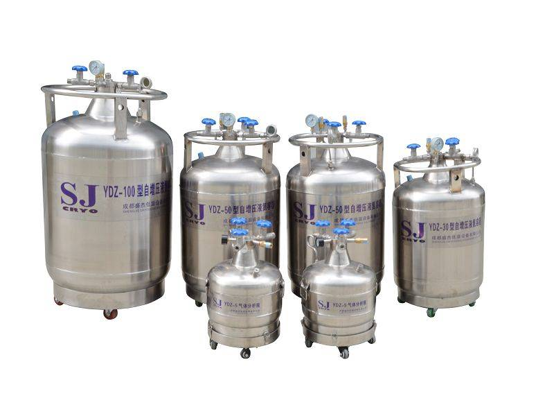Self-pressurized Liquid Nitrogen Tank, Pressure Building tank, LN2 tank,LN2 Cylinder