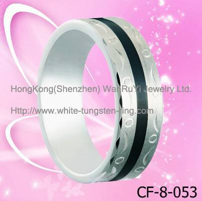 Black Resin Inlay and Carving Tungsten Band For men Hot sales
