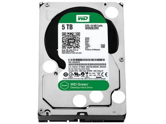 Western Digital WD50EZRX WD Green 5TB Internal HDD 3.5 Desktop Hard Drive Disk