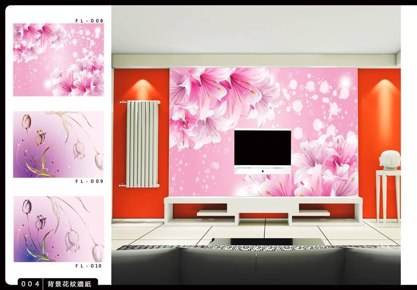 Korean style pvc wallpaper