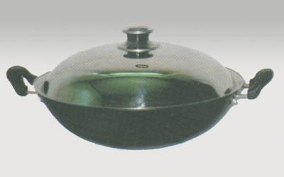 Cast iron enamel woks