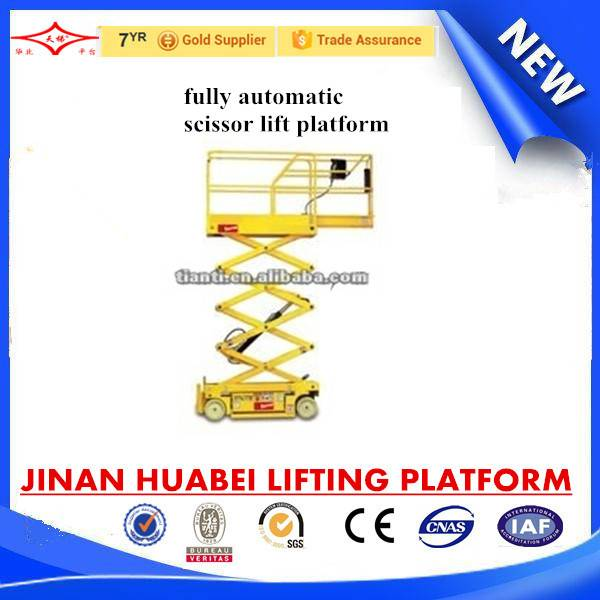 Fully automatic scissor lift platform