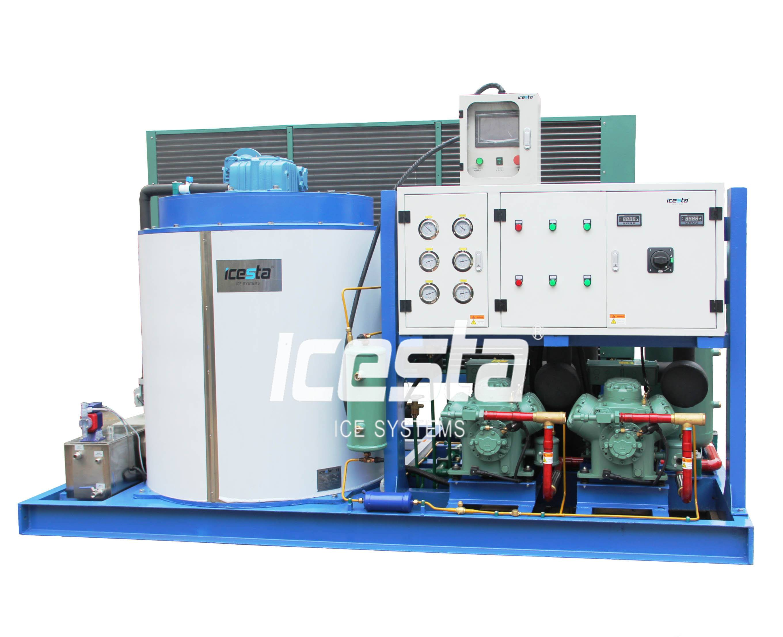 ICESTA Shenzhen Manufacturer Industrial Low noise and environmental 10T Flake Ice Machine