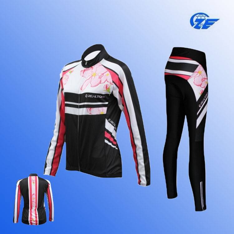 China Small Order Fashion Sublimation Women Wear Suit Cycling Wear for 2015 Spring and Autumn Wholes