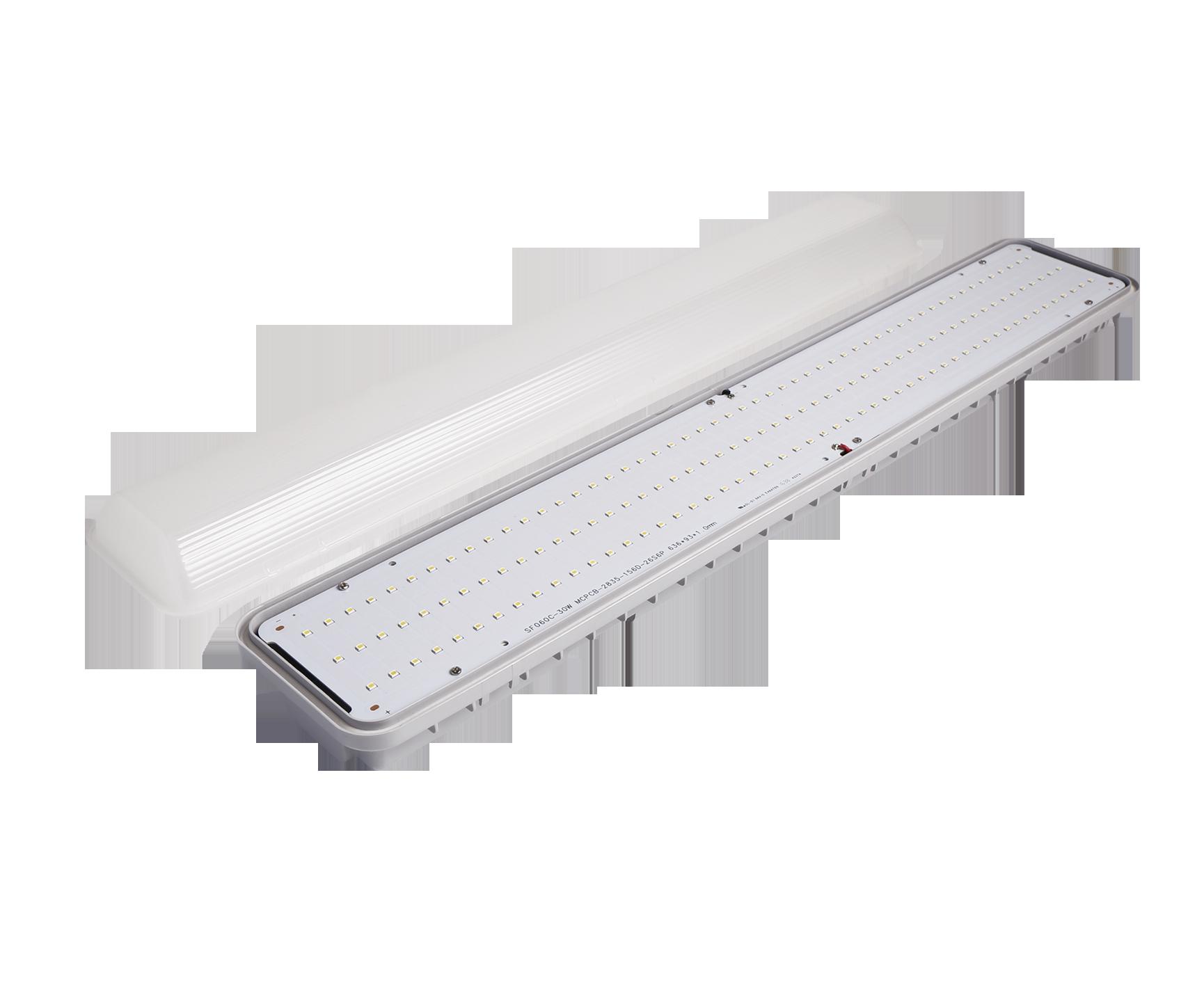 SMD2835 Tri-proof LED Tube Light 30W 60W 68W LED Lamp Bulb White For home Office Hotel 2FT 4FT 5FT
