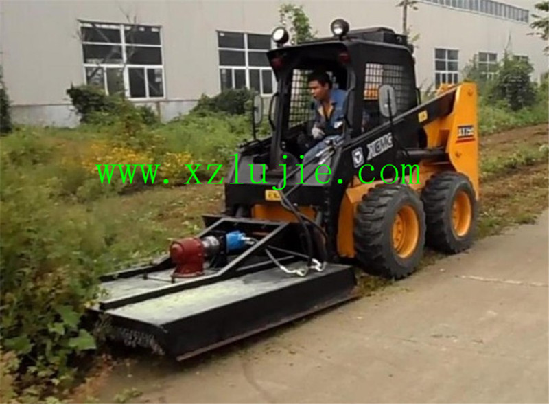 China skid loader grass cutter