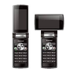 New Any cool V866 TV mobile phone with rotated and flipped screen,dual sim dual standby(Anycool)