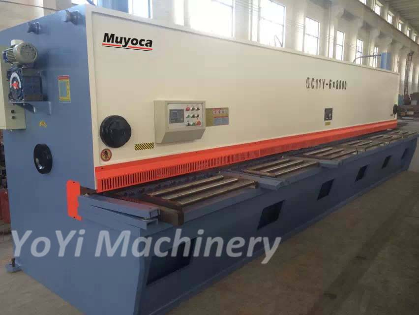 QC11Y-6×8000 cnc guillotine shearing machine