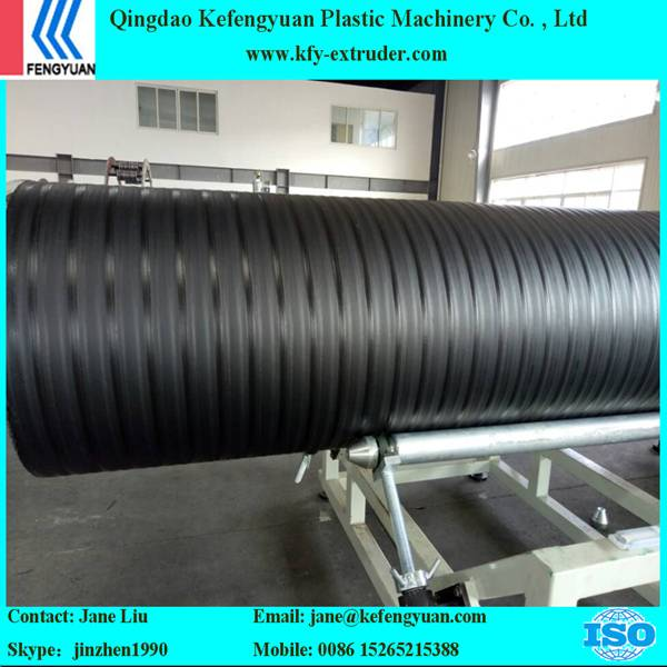 hdpe steel reinforced hollow wall winding pipe extrusion line