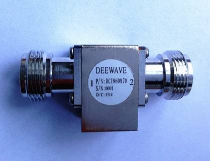 N Female Coaxial Isolator, 9.6-9.7 GHz