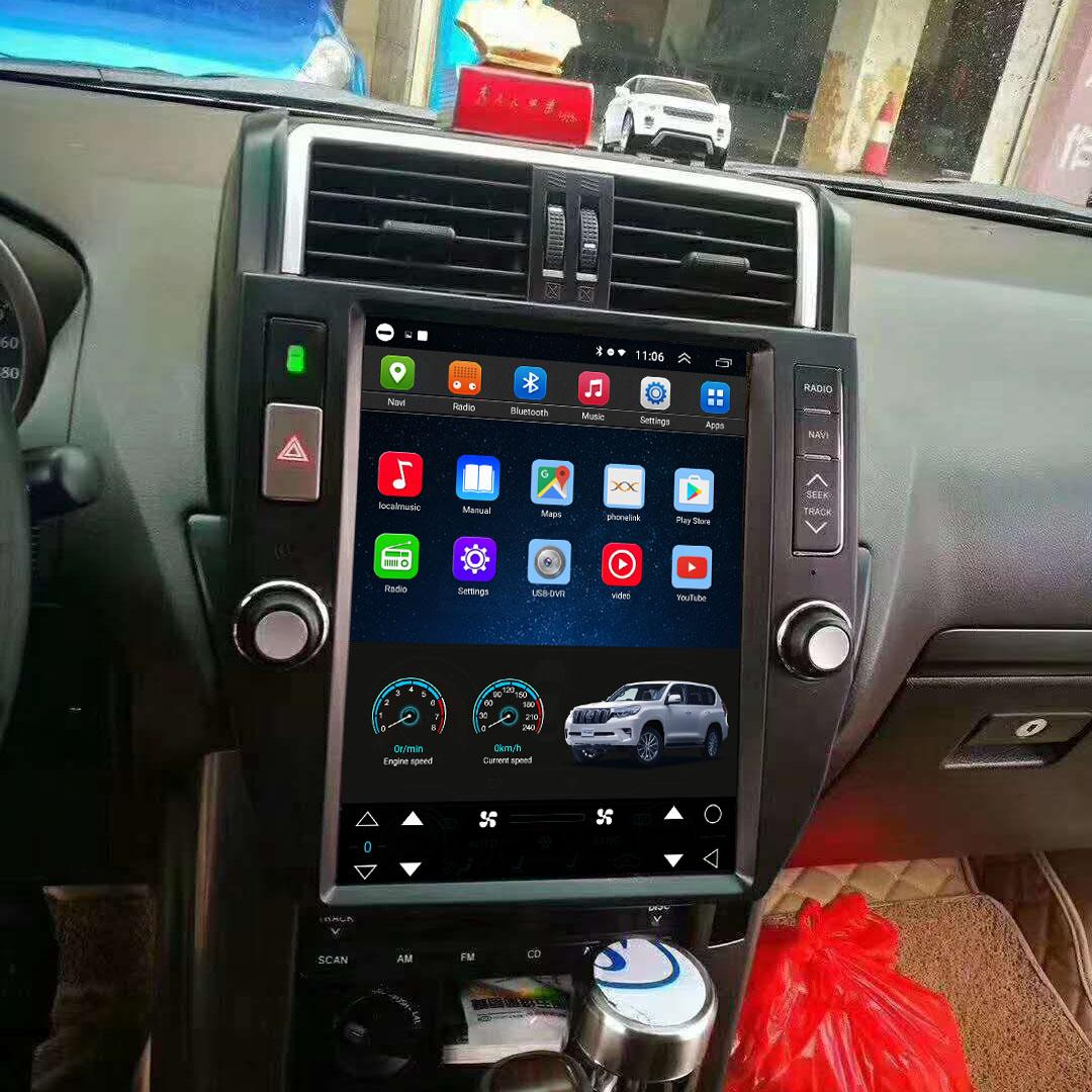 Tesla Style 12.1 Inch Android Car Multimedia Navigation For Toyota Prado 2010-2013