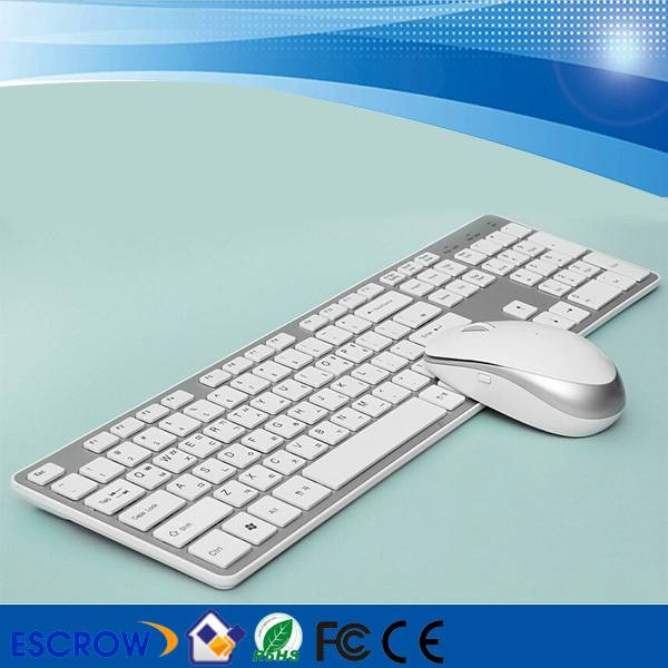 Wholesale Deluxe Color Wireless Keyboard and Mouse Kits for PC/Laptop