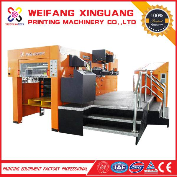 XMQ-1050FC Pizza box making machine with stamping label die cutting machine