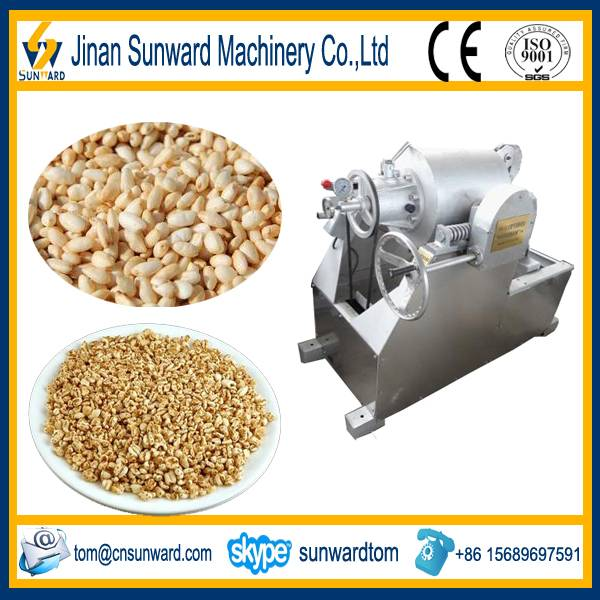 Good quality puffed wheat machine with CE