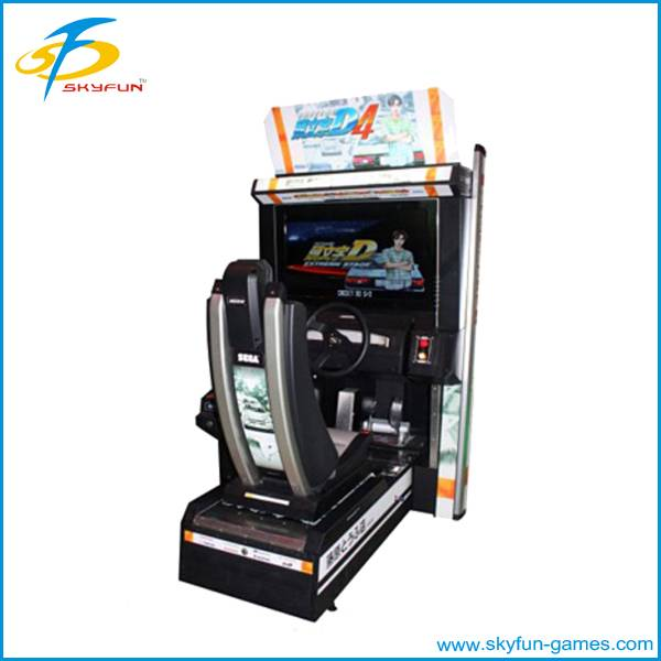 Amusement coin operated driving car game machine