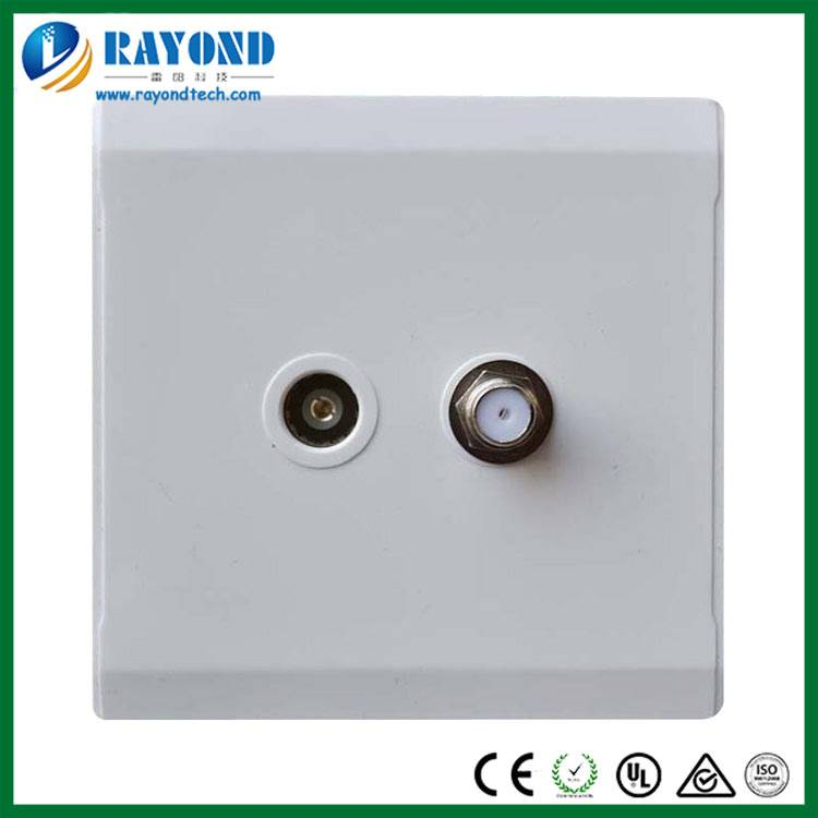 TV Antenna Coaxial and Satellite Outlet Wall Socket