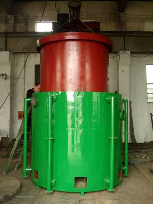 Airflow hoisting type carbonization furnace