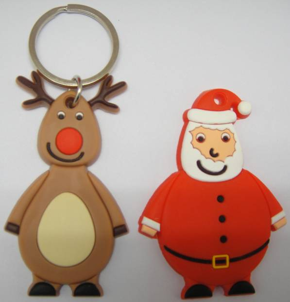 Santa Claus Silicone Keyring