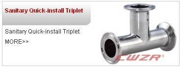 sanitary quick install triplet