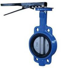 Manual handle wafer butterfly valve