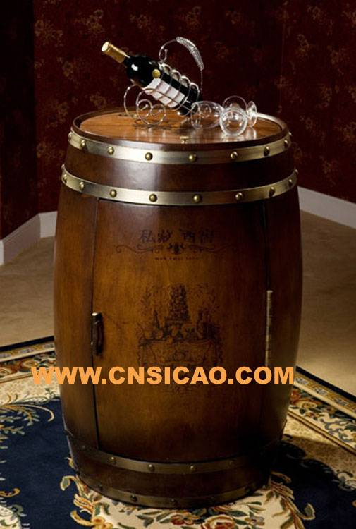 Oak Wooden Wine Cooler,wooden barrel wine cooler,wooden round wine cooler