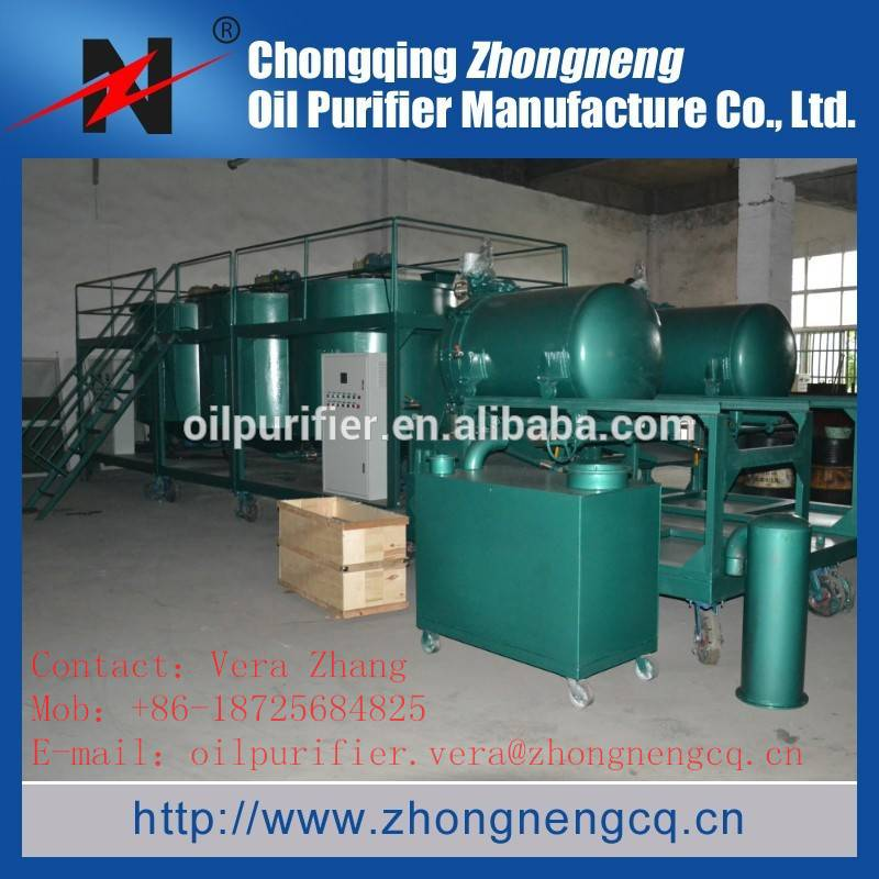 Engine Oil Recycling System/ Waste Motor Oil Distillation Equipment/Engine Oil Refinery Machine LYE