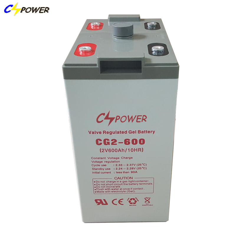 Home Use Solar System Component Parts GEL 600AH Solar Battery
