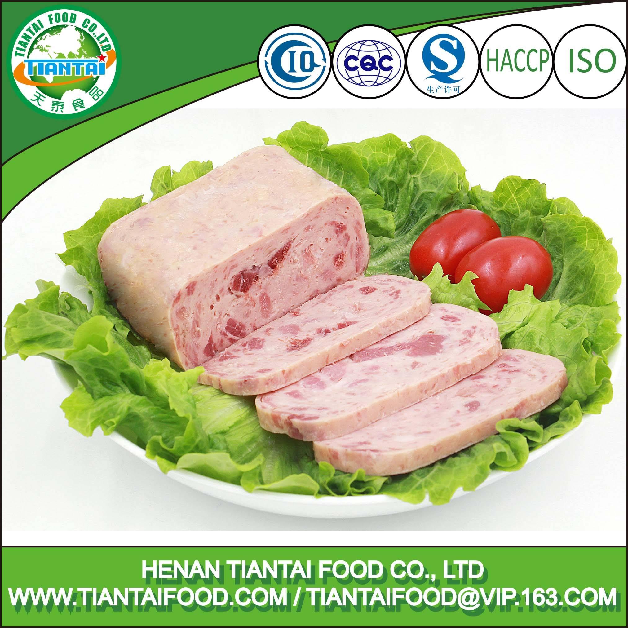 High quality canned pork ham