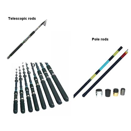 Fishing Rods-Telescopic & pole rods(Fly Fishing Rods, Casting,Spining)