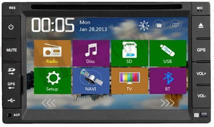 6.2 2-Din Universal Car DVD GPS + Bluetooth + iPod + Radio + Remote Control + USB/SD/Aux-Input
