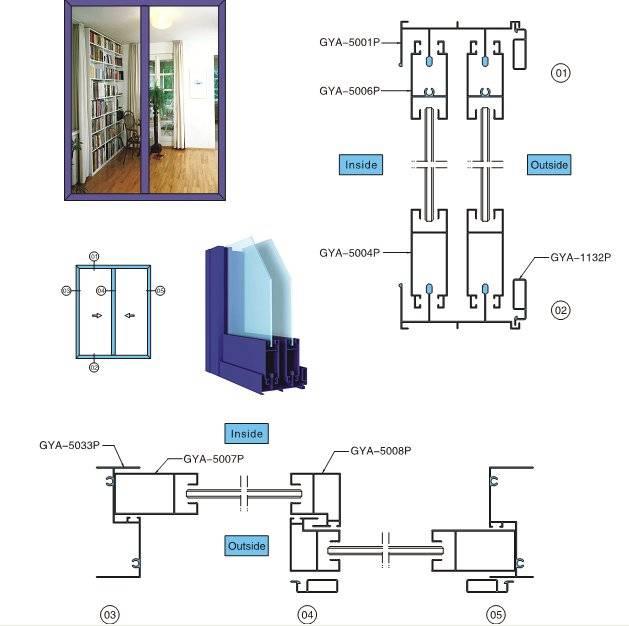 Aluminum Profiles for Windows and Doors