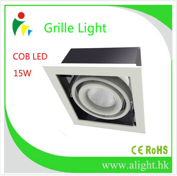 Square Cree Led Beans Gall Light/ cob led grille spot light 15W Downlights