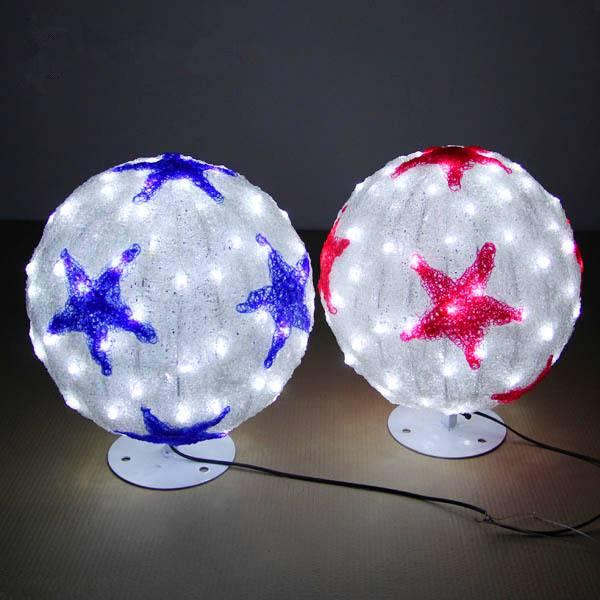 3d ball light for Christmas decor/ led round ball modeling light