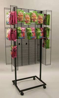 4 side rolling snack display stand.