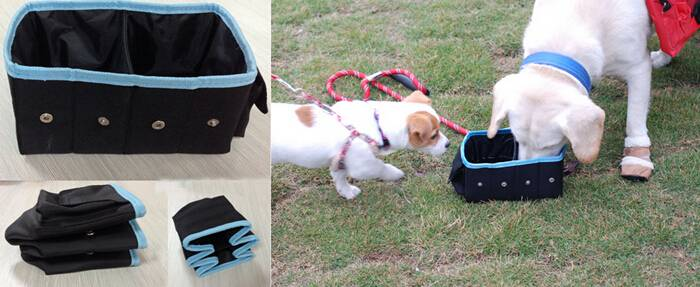 Foldable two in one pet travel bowls