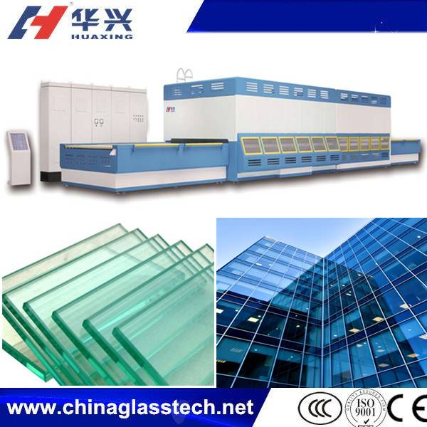 Double Row Fan Forced Convection Building Glass Tempering Machine
