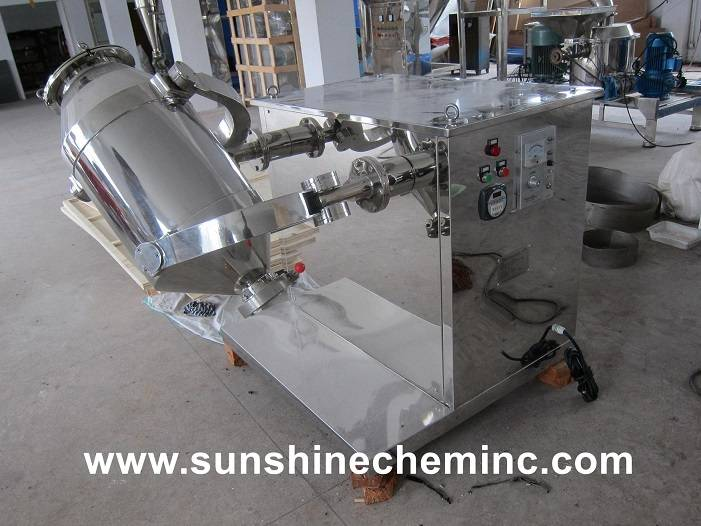 3D swing powder mixer, Three Dimensional Swing Mixer