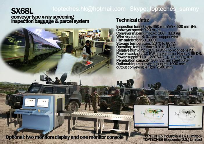 X-RAY SCREENING INSPECTION SYSTEM, bomb detector