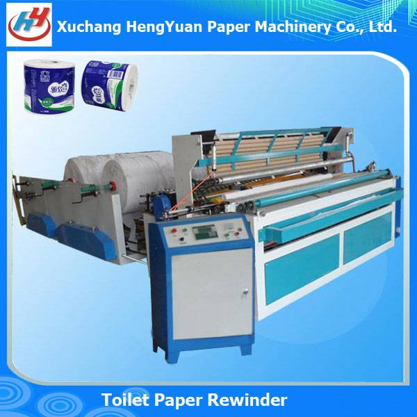 Full Automatic Paper Core Feeding Toilet Paper Rewinder