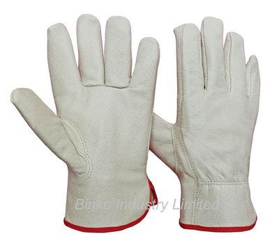 Offer pig grain leather driver gloves