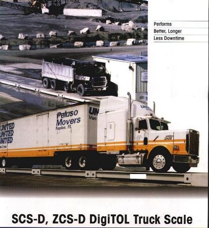 Electronic all steel industrial / truck scale of 200-tons max. capacitiy