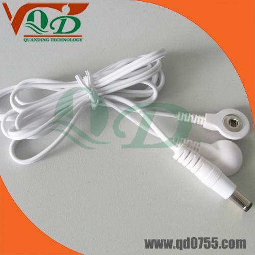 DC plug tens lead wire,electrode wires,cable for tens,lead wire for tens