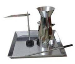 Stainless steel slump test apparatus