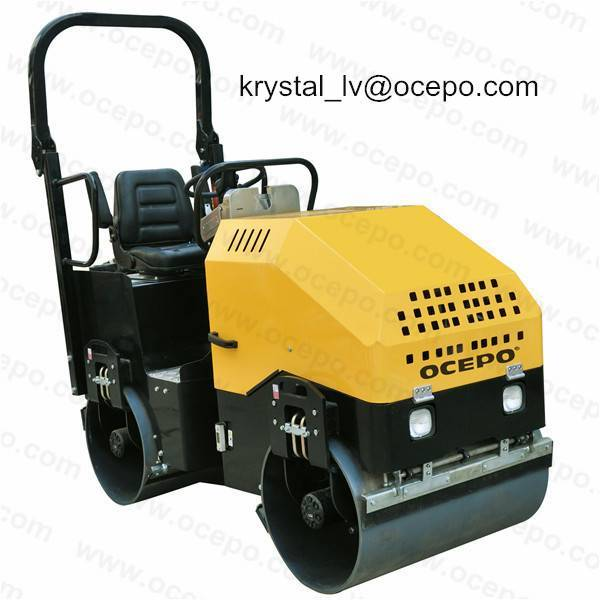 Driving Electric Road Roller