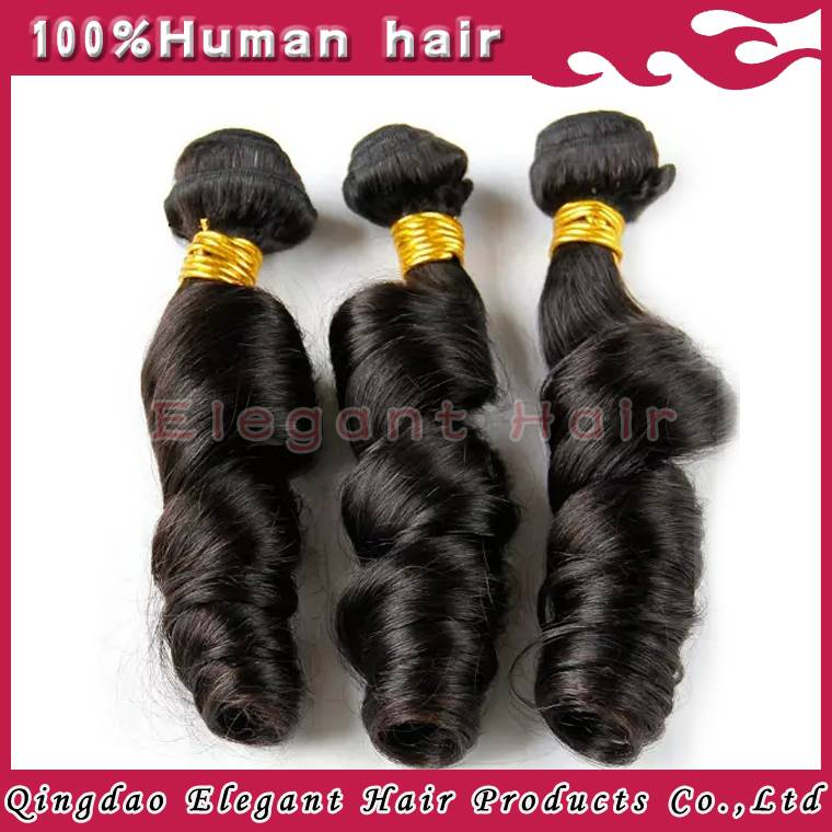 Matural indian human hair romantic curly hair bundle
