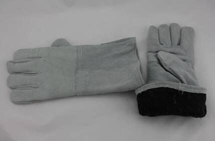 Split cowhide safety welding gloves