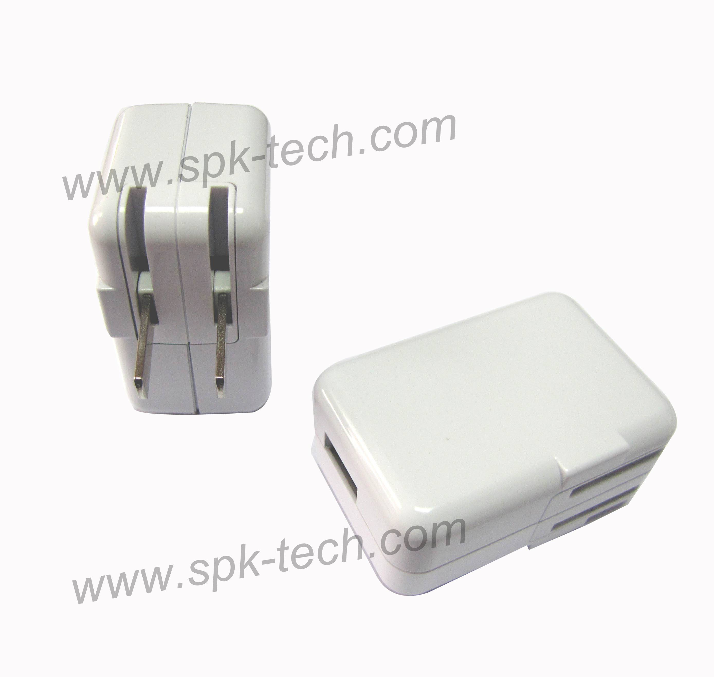 5V1A USB Power Adapter with foldable plug