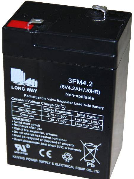 Sealed Lead Acid battery/3FM4.2(6V4.2AH/20hr)