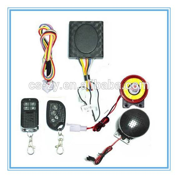 motorcycle alarm system with remote start